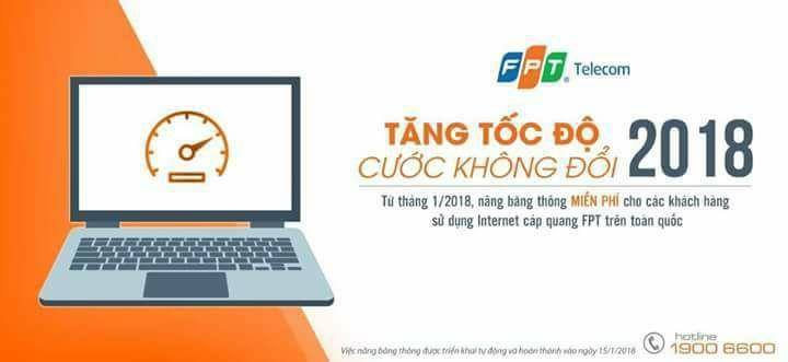 """LẮP MẠNG internet wifi cáp quang """" TĂNG TỐC ĐỘ- CƯỚC KHÔNG ĐỔI"""" 2018"""